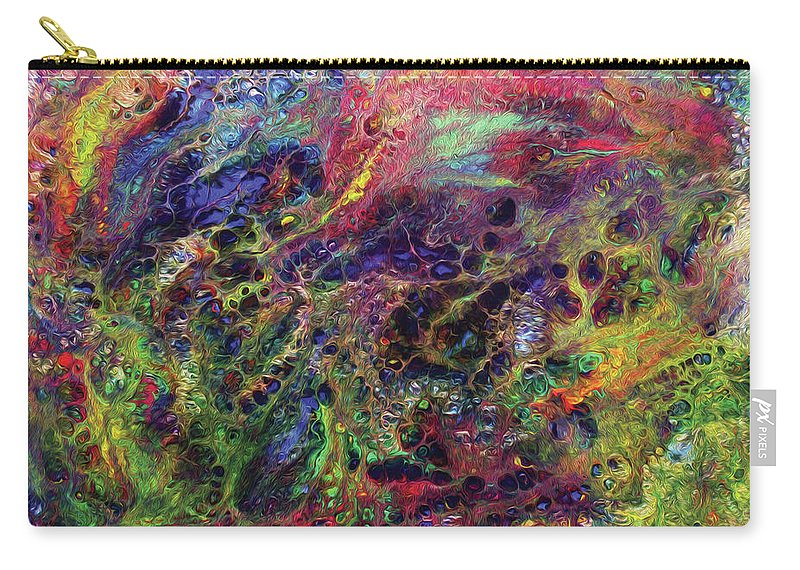 Abstract Carry-all Pouch featuring the digital art Garden Of Colorful Delight by Amy Nordby