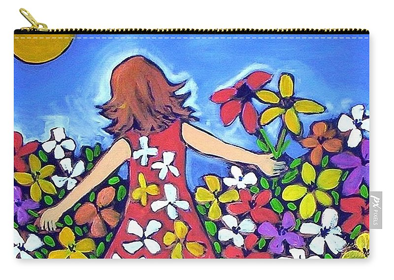 Garden Carry-all Pouch featuring the painting Garden Of Joy by Winsome Gunning
