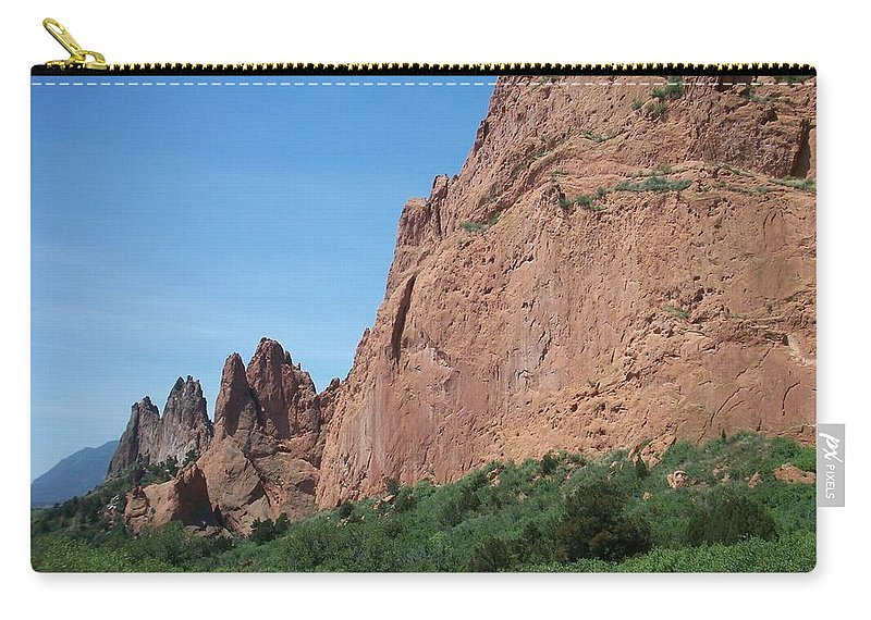 Colorado Carry-all Pouch featuring the photograph Garden Of The Gods by Anita Burgermeister