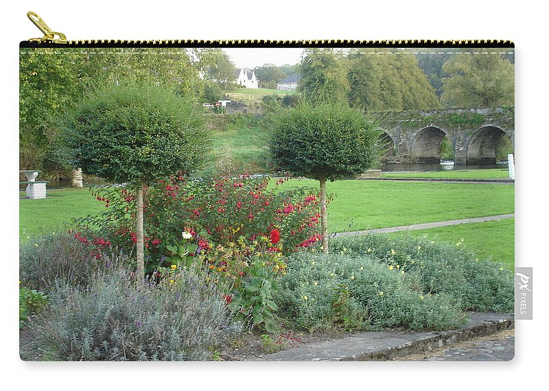 Inistioge Carry-all Pouch featuring the photograph Garden On The Banks Of The Nore by Kelly Mezzapelle