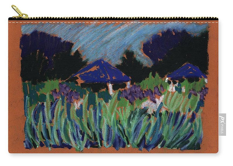 Iris Carry-all Pouch featuring the pastel Garden Party by Rodger Ellingson