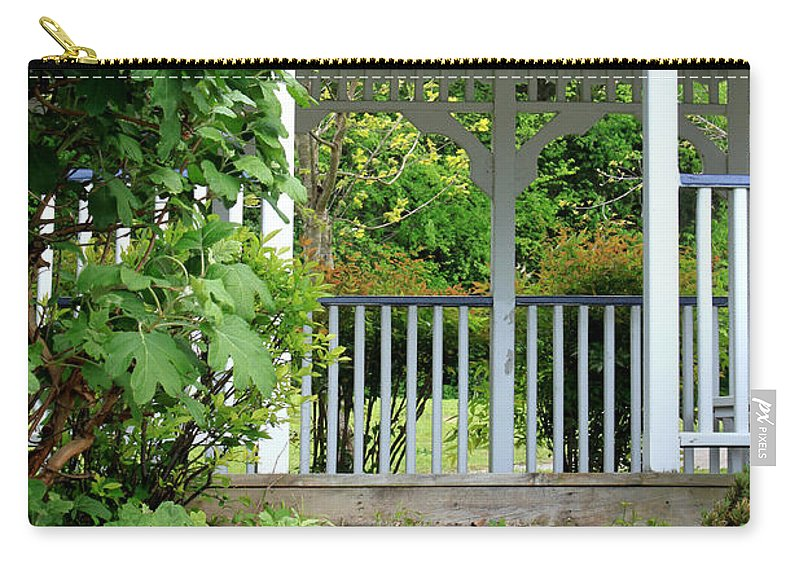 Landscape Carry-all Pouch featuring the photograph Garden Path And Gazebo by Todd Blanchard