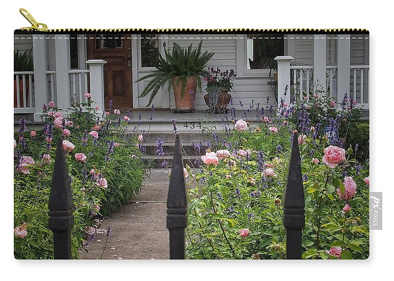 Path Carry-all Pouch featuring the photograph Garden Path by Buck Buchanan