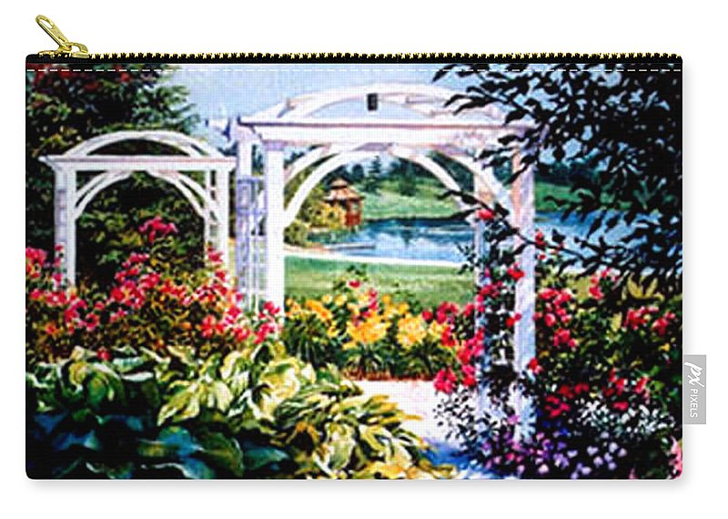 Garden Carry-all Pouch featuring the painting Garden Path by Hanne Lore Koehler