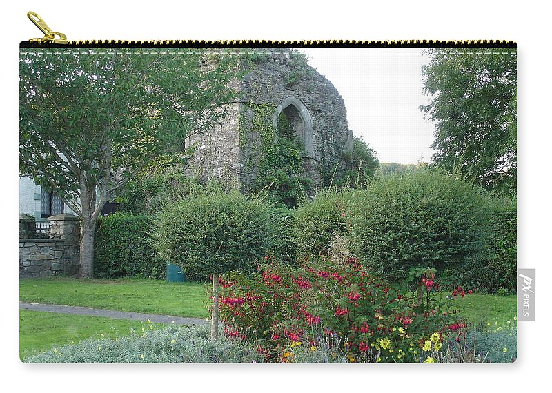 Inistioge Carry-all Pouch featuring the photograph Garden Path by Kelly Mezzapelle