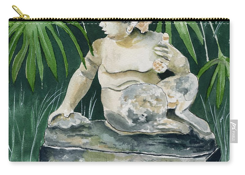 Watercolor Carry-all Pouch featuring the painting Garden Satyr by Brenda Owen