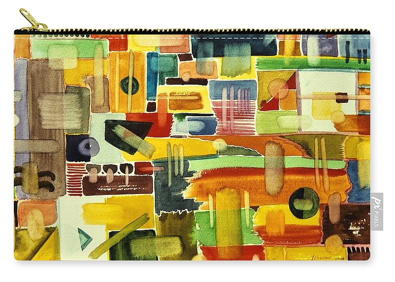 Garden Carry-all Pouch featuring the painting Garden Stroll by Ishwar Malleret