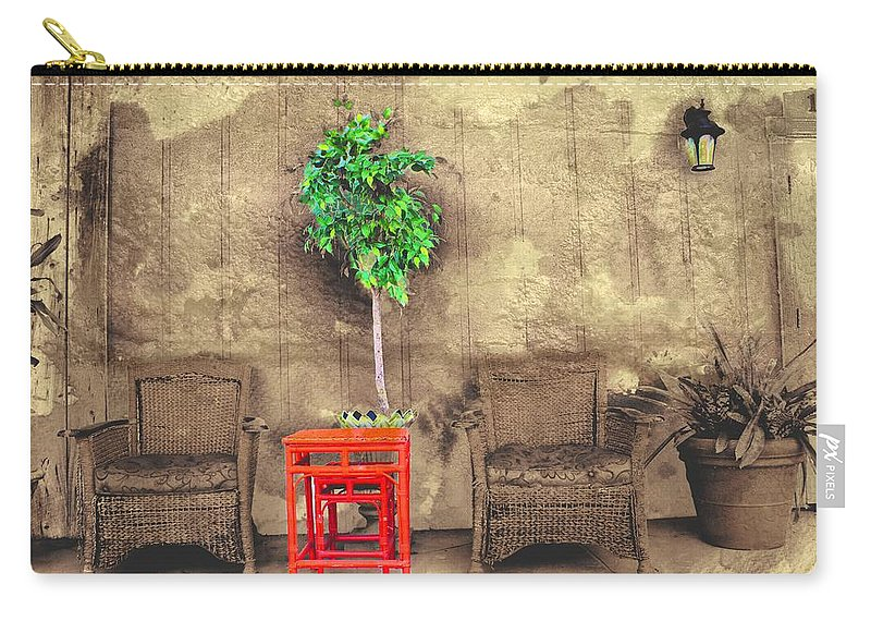 Garden Carry-all Pouch featuring the photograph Garden View Series 37 by Carlos Diaz