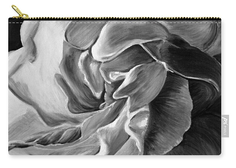 All Carry-all Pouch featuring the painting Gardenia IIi by Tatjana Popovska