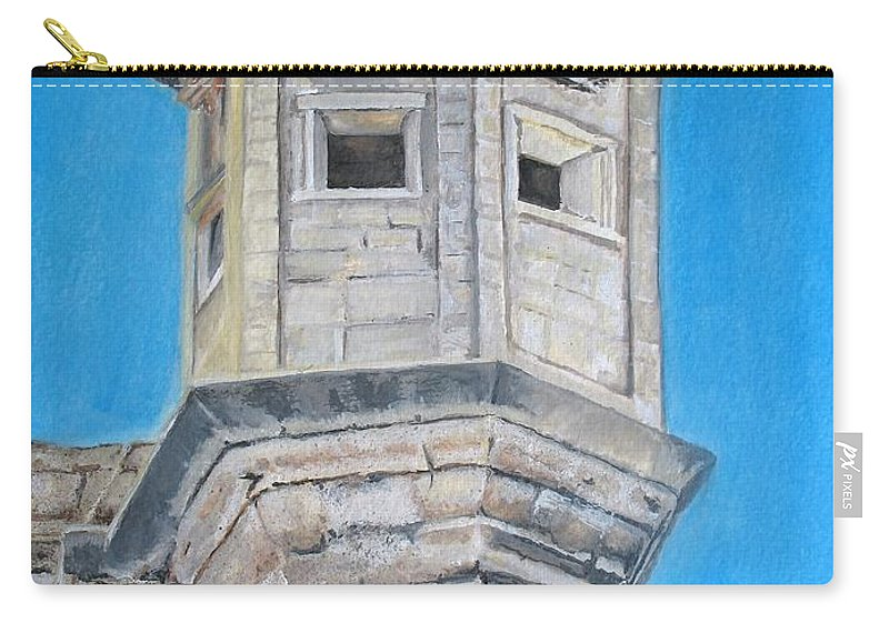 Malta Carry-all Pouch featuring the painting Gardjola by Lisa Cini