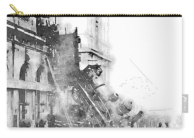 Paris Carry-all Pouch featuring the painting Gare Montparnasse 1895 by Helge