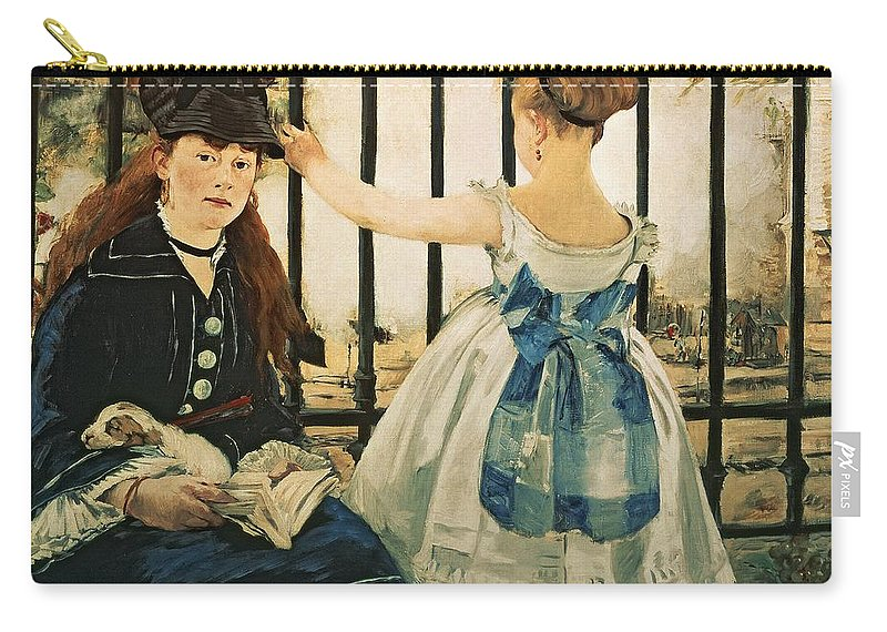 Railings Carry-all Pouch featuring the painting Gare St Lazare by Edouard Manet
