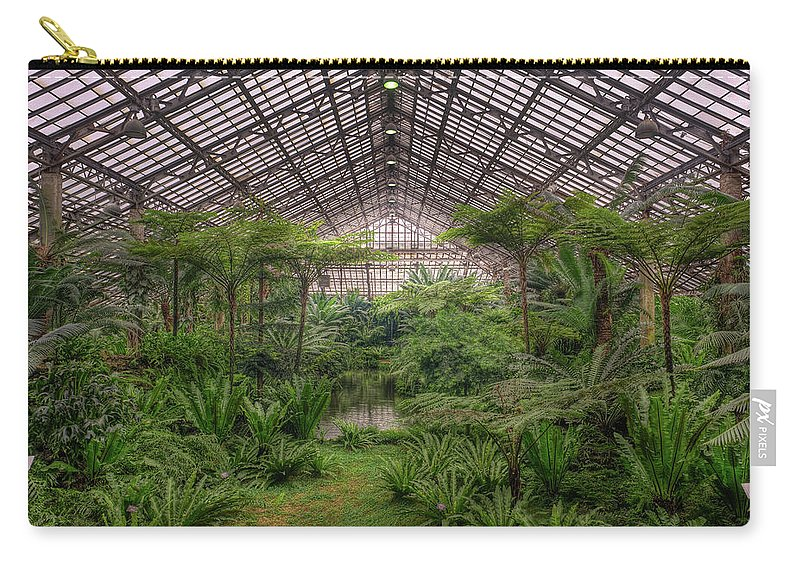 Chicago Carry-all Pouch featuring the photograph Garfield Park Conservatory Main Pond by Steve Gadomski