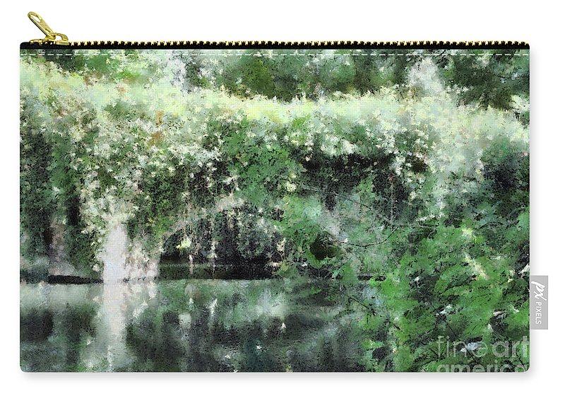 Arch Carry-all Pouch featuring the digital art Garlands And Arches by Ann Garrett