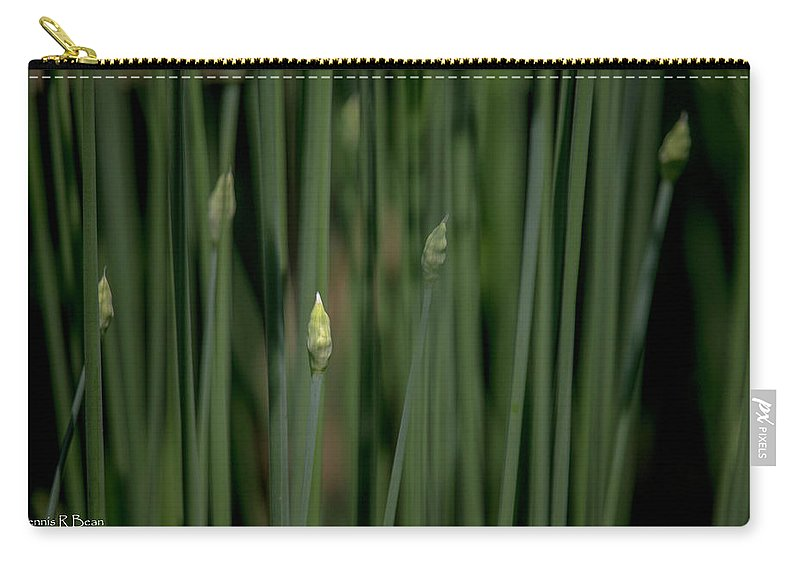 Garden Carry-all Pouch featuring the photograph Garlic Chive Season by Dennis R Bean