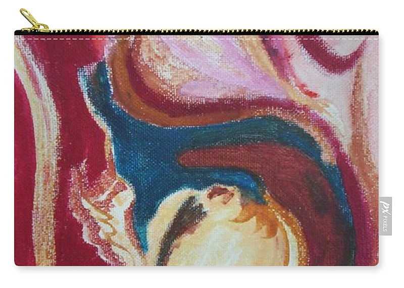 Oil Painting Carry-all Pouch featuring the painting Garlic by Suzanne Udell Levinger