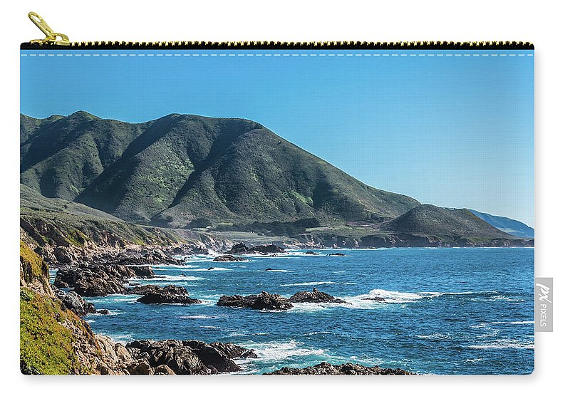 Coastal Carry-all Pouch featuring the photograph Garrapata State Park 1 by David A Litman