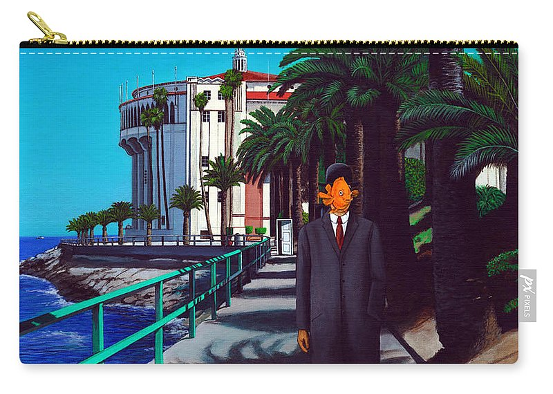 Catalina Carry-all Pouch featuring the painting Gary Baldie by Snake Jagger