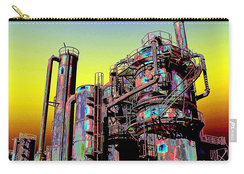 Seattle Carry-all Pouch featuring the digital art Gasworks Park 1 by Tim Allen