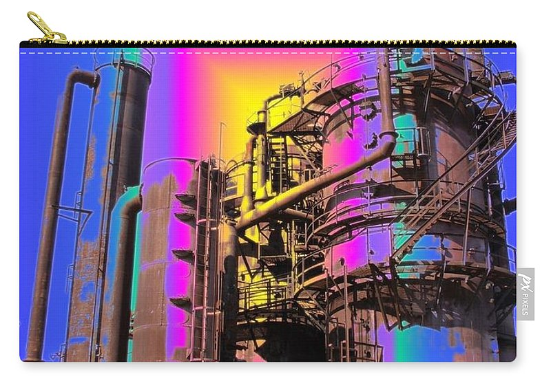 Seatttle Carry-all Pouch featuring the digital art Gasworks Park 2 by Tim Allen