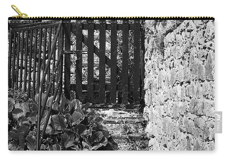Irish Carry-all Pouch featuring the photograph Gate At Dunguaire Castle Kinvara Ireland by Teresa Mucha