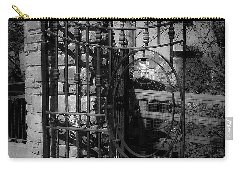 Irish Carry-all Pouch featuring the photograph Gate in Macroom Ireland by Teresa Mucha