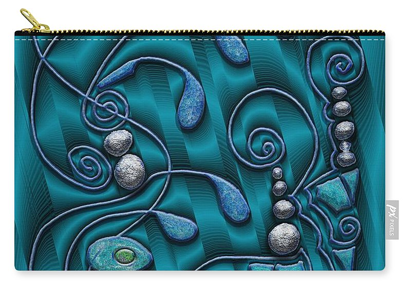 Surrealism Carry-all Pouch featuring the digital art Gate To Atlantis by Mark Sellers
