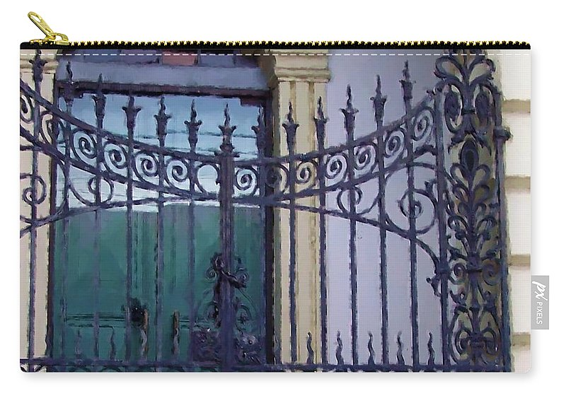 Gate Carry-all Pouch featuring the photograph Gated by Debbi Granruth