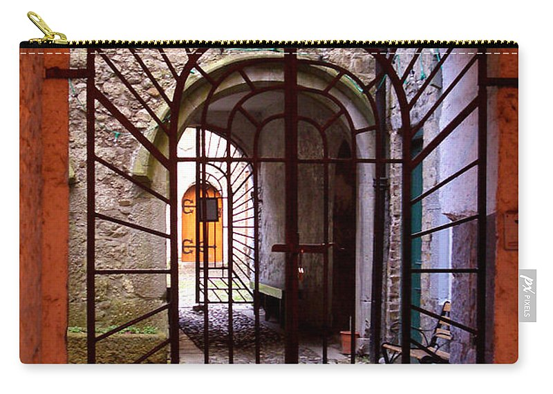 Gate Carry-all Pouch featuring the photograph Gated Passage by Tim Nyberg