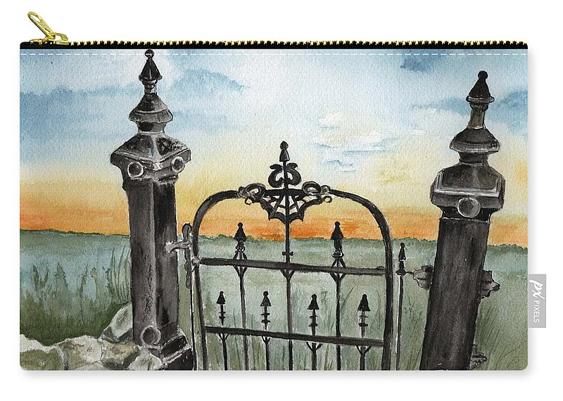 Gate Carry-all Pouch featuring the painting Gateway by Brenda Owen