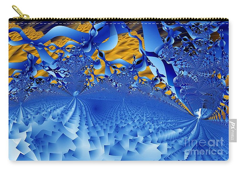 Gateways Carry-all Pouch featuring the digital art Gateways by Ron Bissett