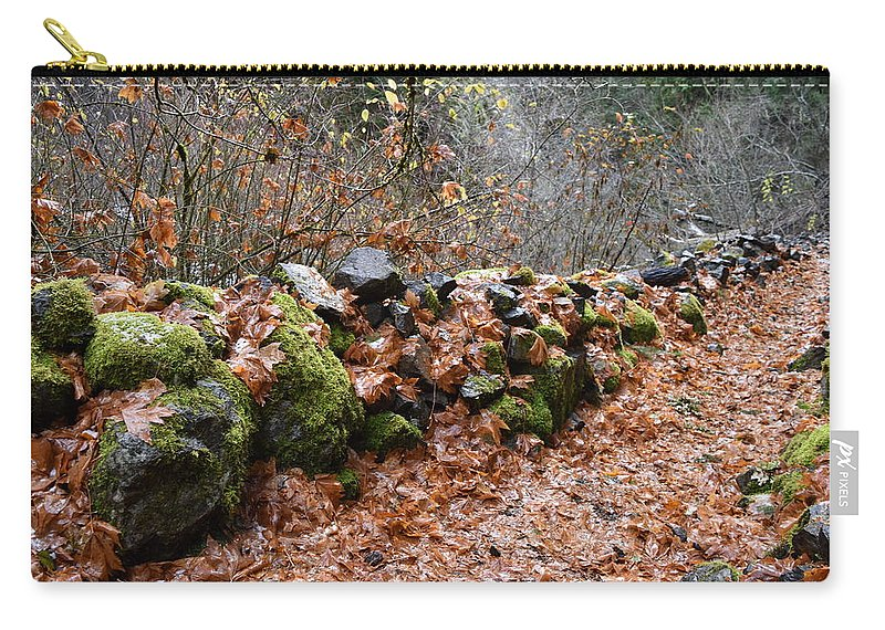 Rocks Carry-all Pouch featuring the photograph Gather No Moss by Thomas Sexton
