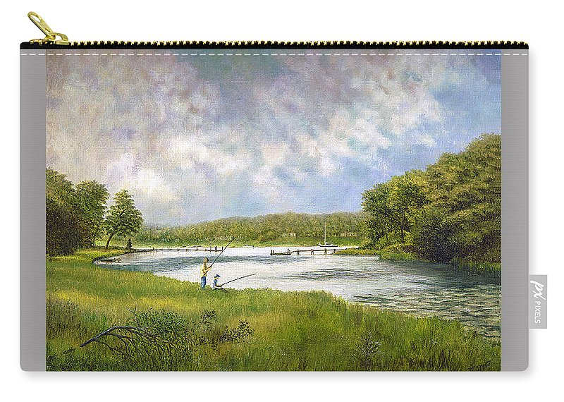Carry-all Pouch featuring the painting Gathering Clouds by Tony Scarmato