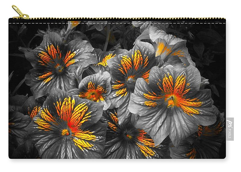 Chicago Botanic Garden Carry-all Pouch featuring the photograph Gathering Of Gold by Tim G Ross
