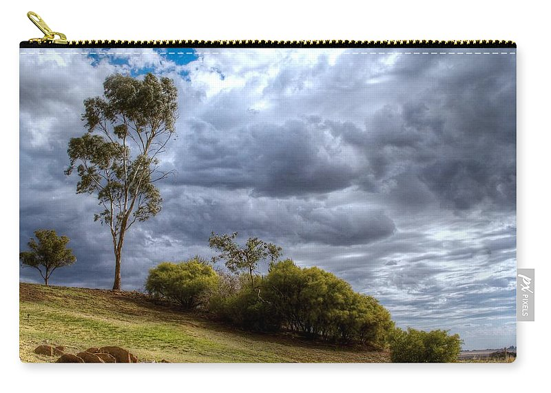 Storm Carry-all Pouch featuring the photograph Gathering Storm Clouds by Jenny Setchell