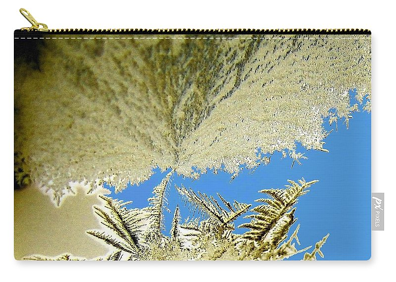 Frost Carry-all Pouch featuring the digital art Gathering Storm by Will Borden
