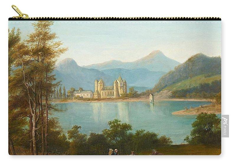 Heinrich Franz Gaudenz Von Rustige Carry-all Pouch featuring the painting Gaudenz Von Rustige by Heinrich Franz