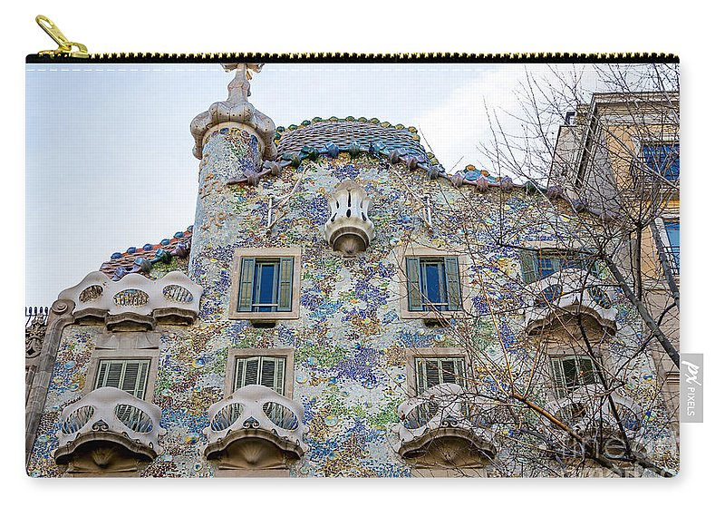 Abbey Carry-all Pouch featuring the photograph Gaudi Architecture by Svetlana Sewell