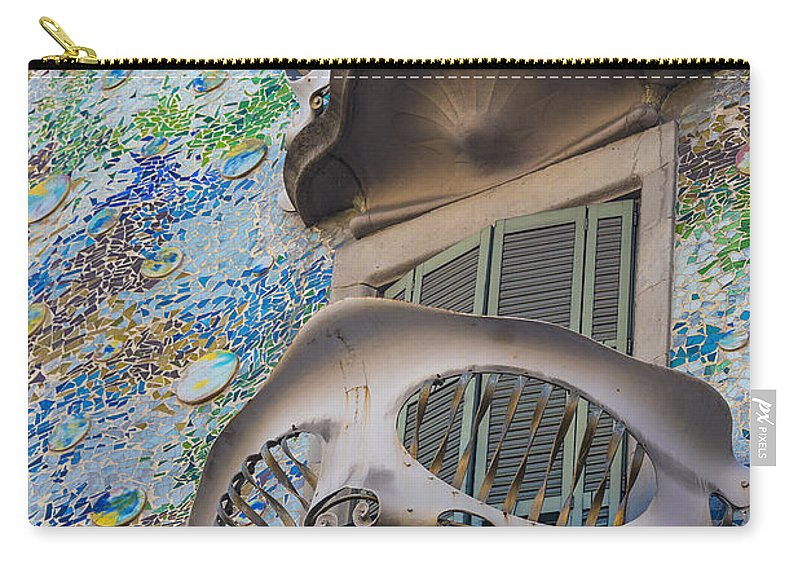 Abbey Carry-all Pouch featuring the photograph Gaudi Balcony by Svetlana Sewell