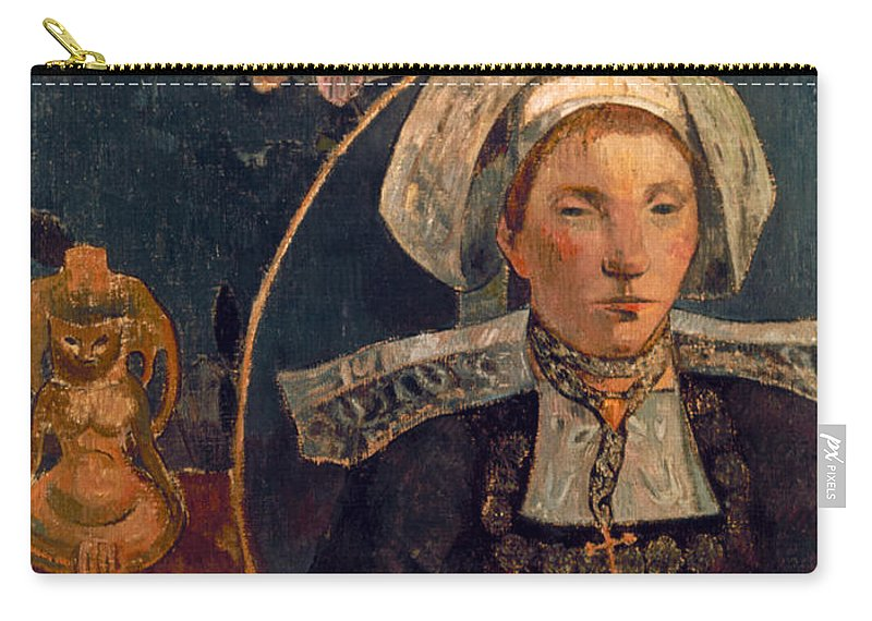 1889 Carry-all Pouch featuring the photograph Gaugin: Belle Angele, 1889 by Granger