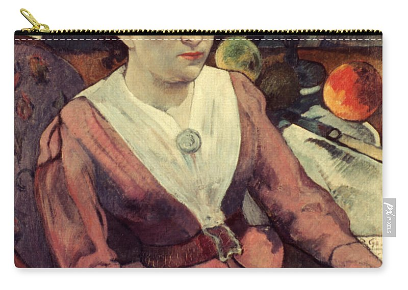 1890 Carry-all Pouch featuring the photograph Gaugin: Marie Derrien, 1890 by Granger