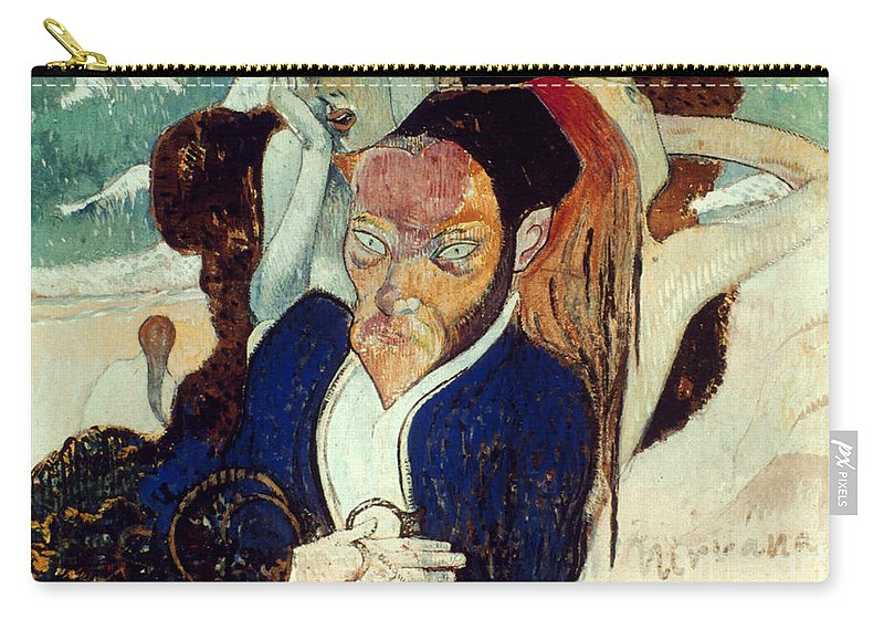 1890 Carry-all Pouch featuring the photograph Gaugin: Nirvana, C1890 by Granger