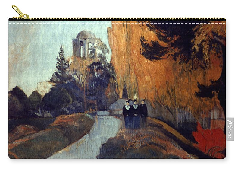 1888 Carry-all Pouch featuring the photograph Gauguin: Alyscamps, 1888 by Granger