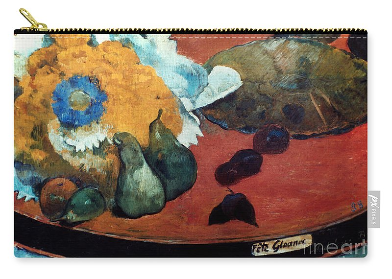 1888 Carry-all Pouch featuring the photograph Gauguin: Fete Gloanec, 1888 by Granger