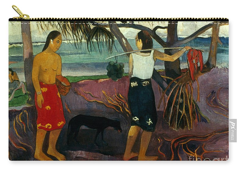 1891 Carry-all Pouch featuring the photograph Gauguin: Pandanus, 1891 by Granger
