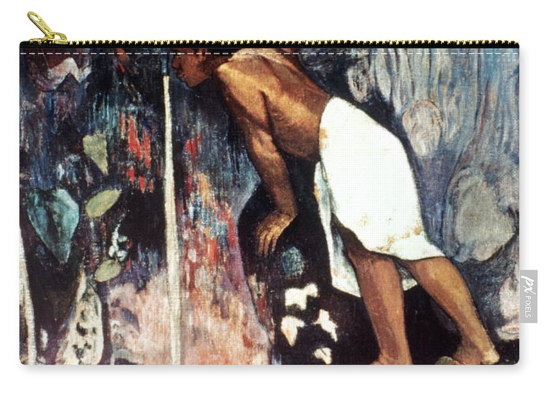 1893 Carry-all Pouch featuring the photograph Gauguin: Pape Moe, 1892 by Granger