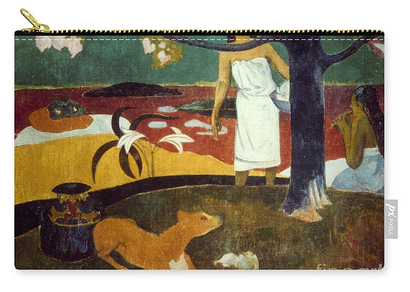 19th Century Carry-all Pouch featuring the photograph Gauguin: Pastoral, 19th C by Granger
