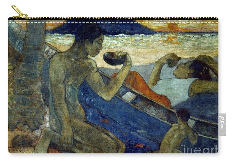 19th Century Carry-all Pouch featuring the photograph Gauguin: Pirogue, 19th C by Granger