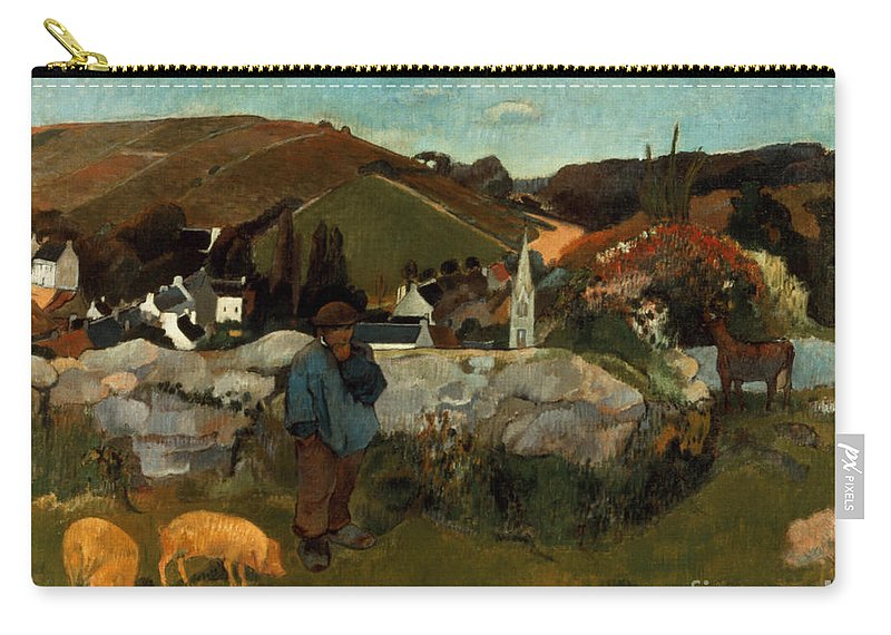 1888 Carry-all Pouch featuring the photograph Gauguin: Swineherd, 1888 by Granger