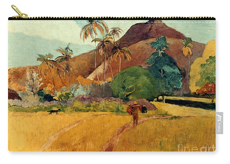 1891 Carry-all Pouch featuring the photograph Gauguin: Tahiti, 1891 by Granger